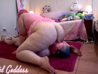 Bound mouth taped blindfolded slave receives fart torment...