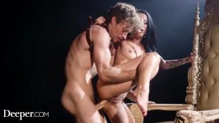 Deeper. Queen Katrina Jade Intense Anal With Her Slave