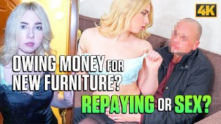Debt4k Maria has gorgeous sexy body and uses it to return all money