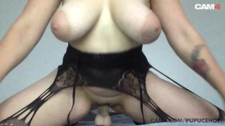 Amateur MILF Big Natural Tits Bounce as She Rides Her Dildo | CAM4