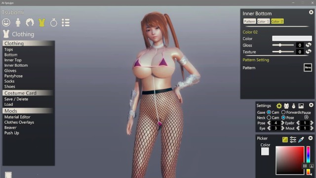 Videogame characters upskirt nude Ai syoujyo hentai game ep.1 sexy character creation unwanted monsters