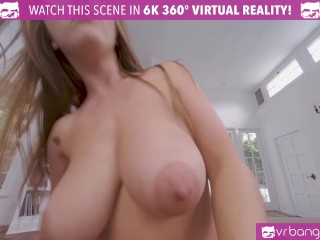 VR BANGERS Busty Babe Lena Paul Finds Her Pussy Match