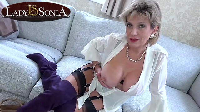 Lady sonia heel in cock Your aunt sonia loves to help you jerk off your cock