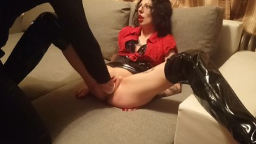 Lucy Ravenblood as sex addicted teacher brutal fucked with a fist