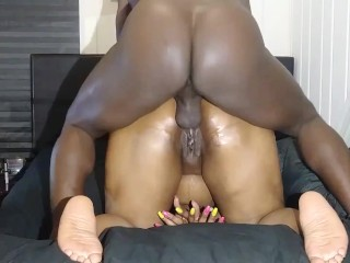 Deep anal drilling bbw asshole pumped full of...