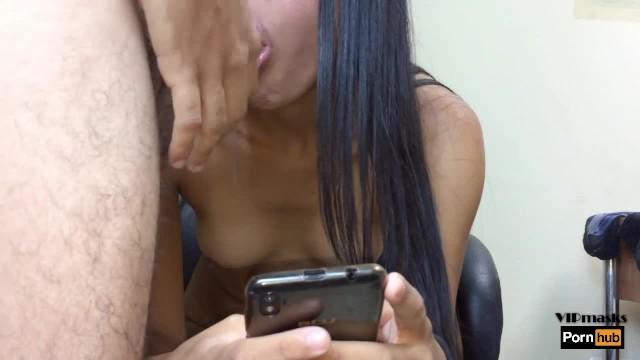 Big Ass Latina Secretary Gets Creamy While Texting To Her Boyfriend 10