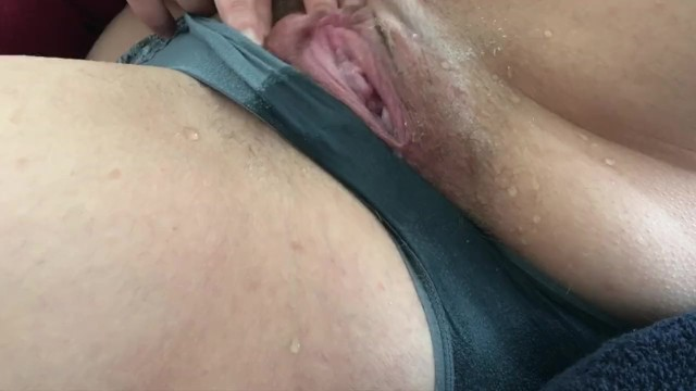 Sexy MILF rubs her clit and soaks her panties with her squirt 30