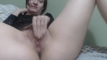 Squirting Black Lace Orgasm Fun