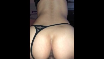 Slim Latina jumping up and down on dick