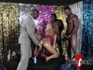 BRUCE SEVEN – Heather St. Clair Takes On 4 Big Black Cocks