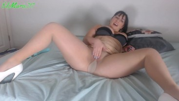 Natural Pantyhose Show Off then Orgasm HD