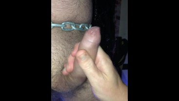 Restrained, plugged and made to cum.