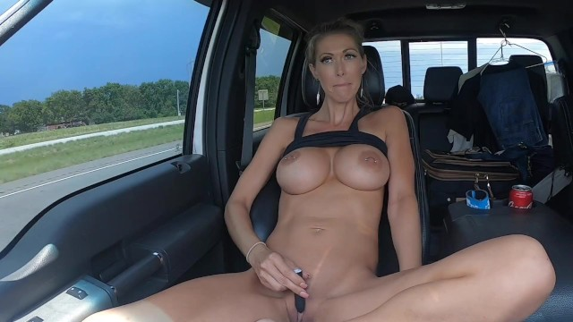 Highway trucker flashing
