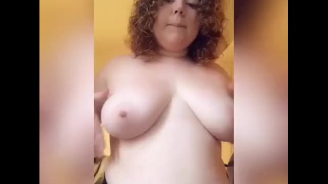 Chubby Teen Playing With Boobs On SnapChat 3