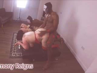 HARMONY REIGNS AND ESTELLA BATHORY IN MULTIPLE BBC FUCKFEST