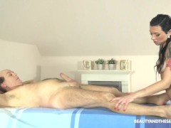 Masseuse Makes Washed Up Grandpa Feel his Cock again!