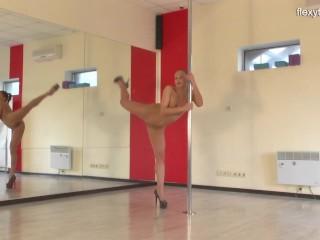 Sonka nikolet super doing gymnastics...
