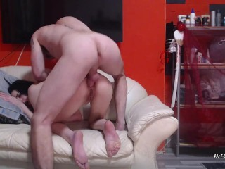 I cum twice from hot assfuck one of...