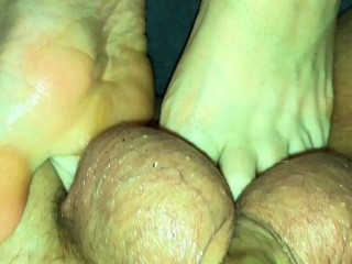 42 toes balls ballbusting...
