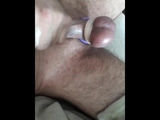 Spanking & beating his balls till he agrees to fuck my ass