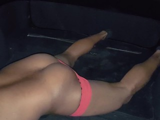 HARD LOUD ORGASM AND MOANING In the Backseat of The car