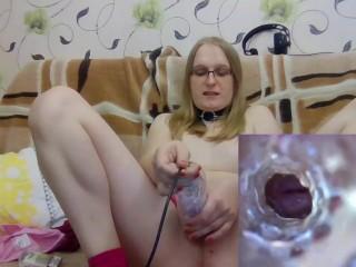 Trans girl webcam camera in fleshlight...