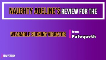 REVIEW: Wearable Sucking Vibrator from Paloqueth (SFW)