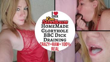 Homemade Gloryhole BBC Dick Draining