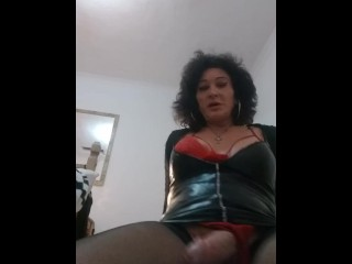Dirty whore answers her phone with a hard...