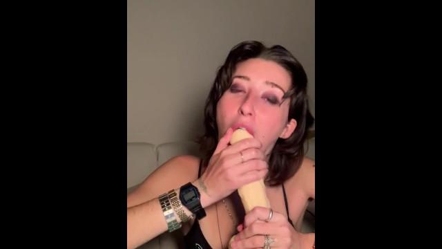 RIP JUICEWRLD tribute video 3 deepthroat blowjob on 8in dildo 31
