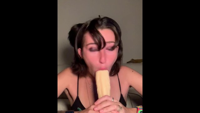 RIP JUICEWRLD tribute video 3 deepthroat blowjob on 8in dildo 2
