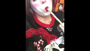 Christmas Candy Cane Creamy Pussy Fuck