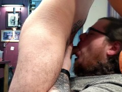 Attempted ASMR Face Fucking & Cum Down Throat, Then on His Face