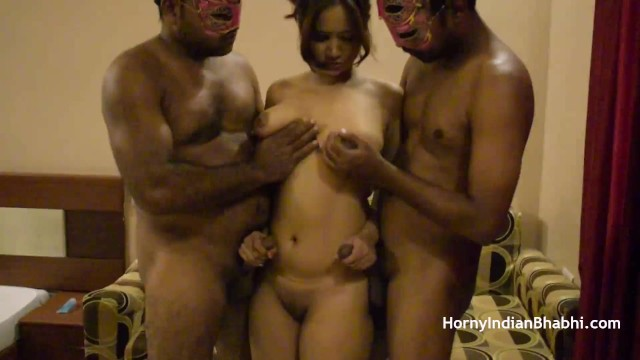 Clip sex simran tamil video - Open minded amateur indian bhabhi having a threesome sex