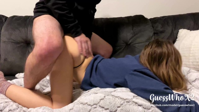 Fucked by 2 dicks pics Real amateur college couple thong fuck after class, pussy eating orgasm 4k