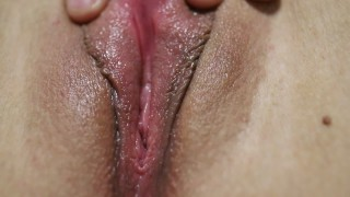 SUPER CLOSE UP WET PUSSY - FINALLY PULSATING