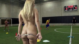 COLLEGE RULES – Teen Coedes Play A Friendly Game Of Strip Dodgeball