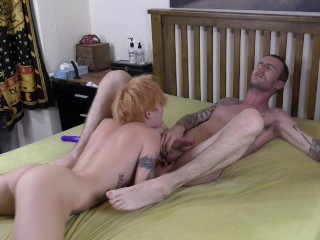 HOT TEEN makes him CUM in 4 minutes with INTENSE PROSTATE FINGERING