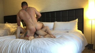 Nickey Huntsman's FIRST Bisexual MMF Threesome with Sergeant Miles