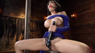 First Timer Gia Milana Gets Bound and Fucked by Machines