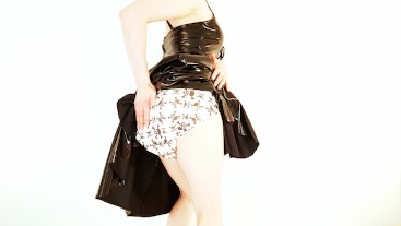 Diaper Wetting with PVC Dress