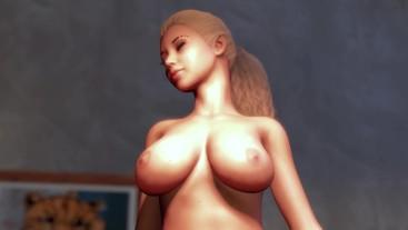 Big Boob Teen Breast Expansion at School - Long Leg Tall Lesbian Hourglass