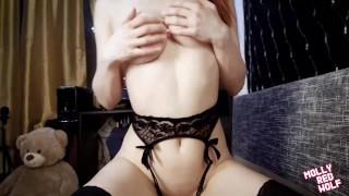 Cum on the Glasses of a Redhead Teen. Slut Loves Blowjobs ❤ MollyRedWolf