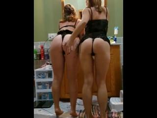 Hot girls wiggling ass