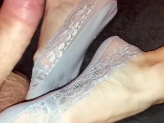 45 milf sexy feet in sockjob...