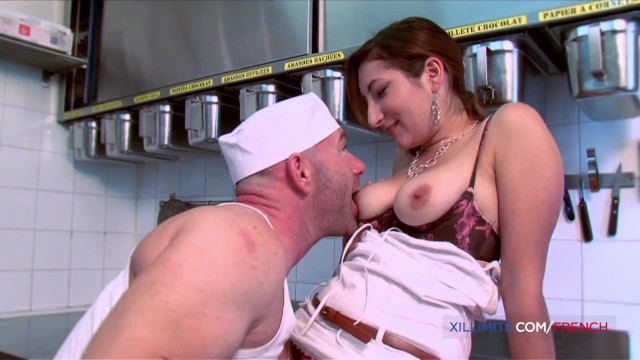 Baker dozen xxx French big tits milf fucked in the ass by baker man