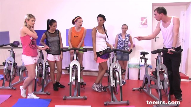 5 Girls Fuck the Fitness Instructor by Teenrs 1