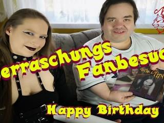 Birthday fun german nadine cays surprises midget fan...