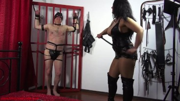 Please stop tickling me! Mistress Ezada tickling Her slave to exhaustion