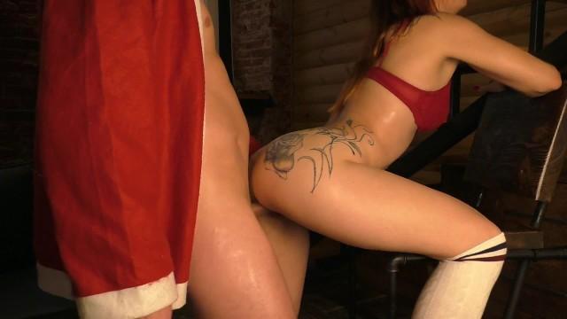Ho ho ho !!! Bad Santa fucked a girl for a gift for the New Year 6